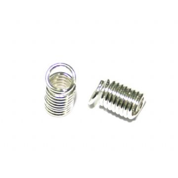 20 x 4mm Silver plated spring ends - S.F11 - WC037 - 2502102